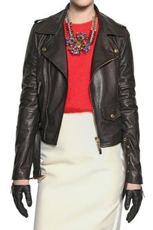 DSquared2 Biker Nappa Leather Jacket - Lyst