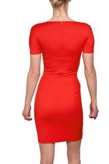 Dsquared2 Stretch Cady Dress in Orange (coral) - Lyst