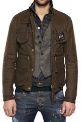 DSquared2 Mixed Fabric Triple Layer Boobou Jacket - Lyst