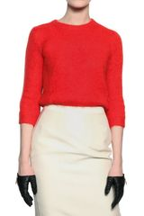 DSquared2 Mohair Wool Knit Round Neck Sweater - Lyst
