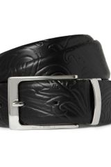 Etro Embossed Reversible Leather Belt - Lyst