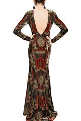 Etro Printed Viscose Silk Velvet Long Dress in Multicolor (multi) - Lyst