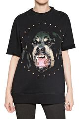 Givenchy Rottweiler Cotton Fleece Sweatshirt - Lyst