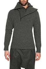 Givenchy Zipped Collar Wool Knit Sweater - Lyst