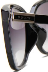Gucci Gucci Womens Gucci Fs Wrap Sunglasses in Black (black frame/grey gradient lens) - Lyst