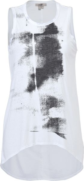 Helmut Lang White Printed Top in White - Lyst