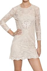 Isabel Marant Crochet Cotton Lace On Net Dress - Lyst