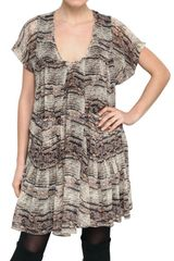 Isabel Marant Printed Silk Georgette Dress - Lyst