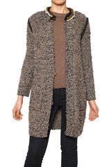 Lanvin Embroidered Wool Blended Tweed Coat - Lyst
