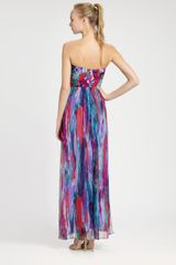Laundry By Shelli Segal Strapless Maxi Dress in Multicolor (multi) - Lyst