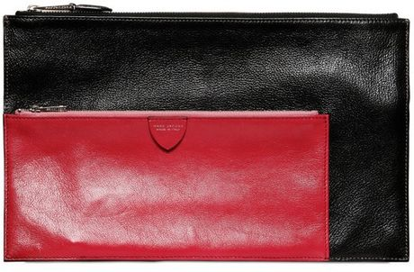 Marc Jacobs Multi Pouch Bicolored Leather Wallet in Black - Lyst