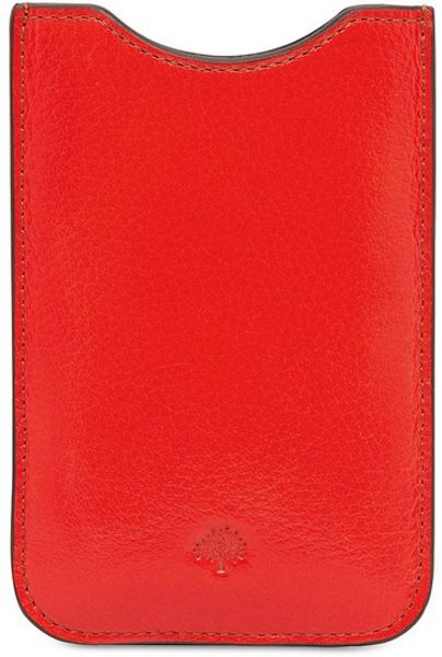 Mulberry Soft Spongy Leather Iphone Cover in Orange - Lyst