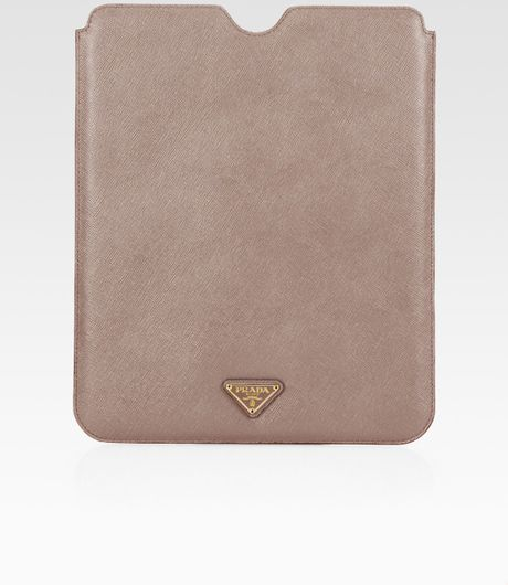 Prada Saffiano Travel Case For Ipad in Brown for Men (taupe) - Lyst