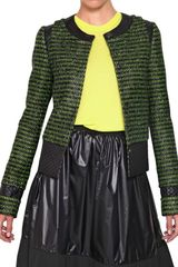 Proenza Schouler Nylon Insert Techno Cotton Tweed Jacket - Lyst