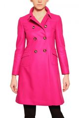 RED Valentino Double Breasted Heavy Wool Coat - Lyst