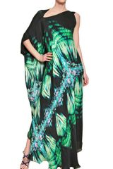 Roberto Cavalli Printed Silk Chiffon Dress - Lyst