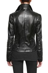 Rue The Tanneurs Studded Biker Leather Jacket - Lyst