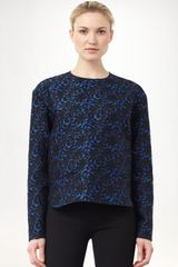 Stella Mccartney Brocade Jacquard Top in Blue - Lyst