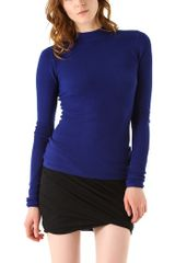 T By Alexander Wang Mock Neck Thermal Top - Lyst