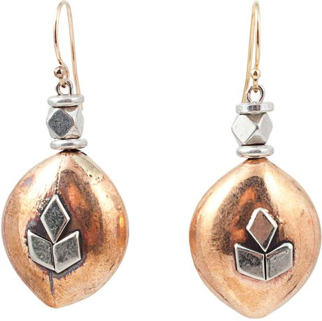 Vanessa Mooney Copper Bead Earrings in Gold (copper) - Lyst