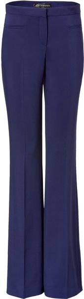 Versace Persian Blue Wide Leg Pants - Lyst