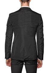 Viktor & Rolf Pleated Taffeta Jacket in Black for Men - Lyst