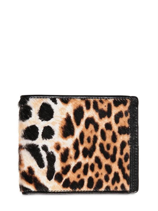 Saint laurent Leopard Printed Ponyskin Capsule Wallet in Animal ...