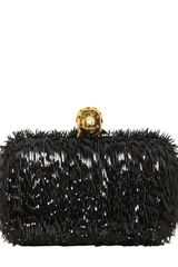 Alexander Mcqueen Classic Skull Splinter Patent Box Clutch in Black - Lyst