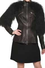 Alexander McQueen Mongolia Textured Nappa Leather Jacket