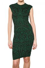 Alexander McQueen Fil Coupè Mixed Jacquard Wool Knit Dress - Lyst
