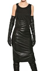 Ann Demeulemeester Stretch Nappa Leather Pencil Skirt - Lyst