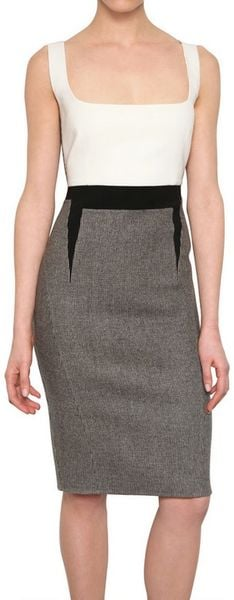 Antonio Berardi Harris Tweed Wool Dress in Gray (grey) - Lyst