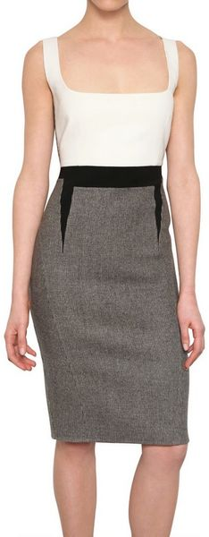 Antonio Berardi Harris Tweed Wool Dress in Gray (grey)