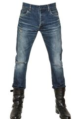 Balmain 18cm Six Pocket Destroyed Denim Jeans - Lyst