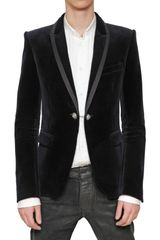 Balmain Satin Piping Velvet Jacket - Lyst