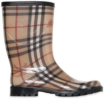 Burberry 30mm Checked Rain Boots - Lyst
