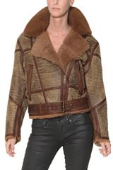 Burberry Brit Leather Shearling Aviator Jacket - Lyst
