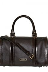 Burberry Medium Alchester Bridle Trim Leather Bag - Lyst