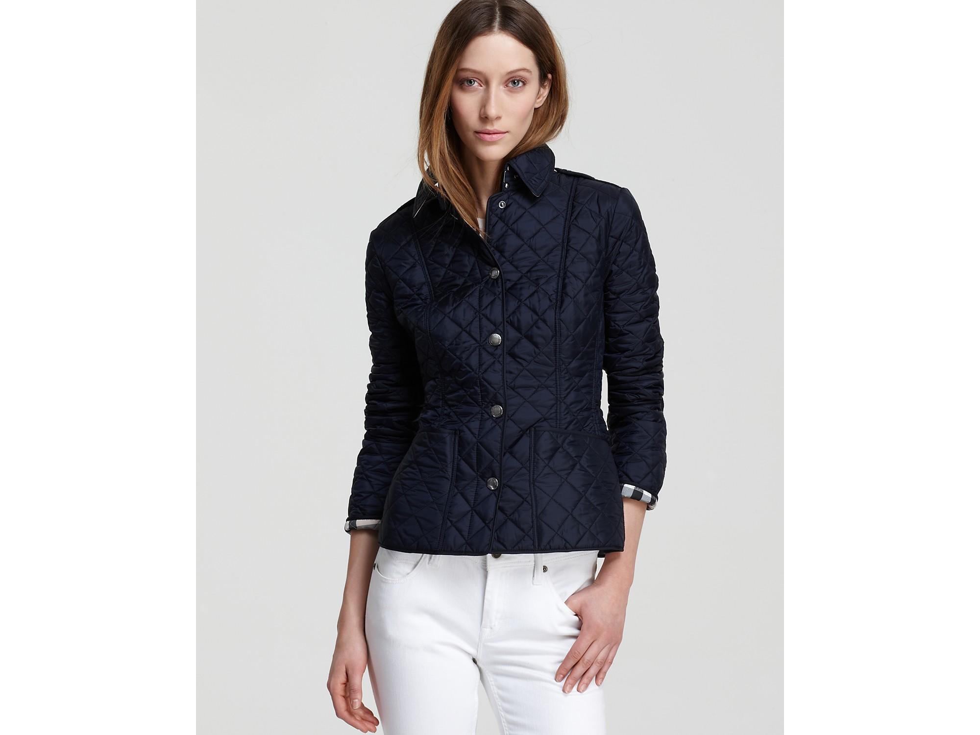 Burberry Kencott Lightweight Quilt Jacket in Blue   Lyst : burberry brit kencott quilted jacket - Adamdwight.com