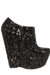 Carvela Kurt Geiger Geordie Sequin Low Boot Wedges