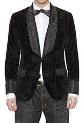 Dolce & Gabbana Cotton and Silk Jacquard Jacket - Lyst