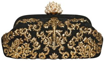 Dolce & Gabbana Miss Dea Embroidered Suede Clutch - Lyst