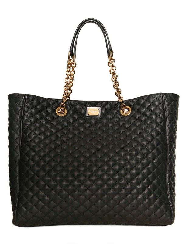 Dolce & Gabbana Glam quilted leather tote