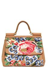 Dolce & Gabbana Medium Miss Sicily Crocheted Top Handle - Lyst