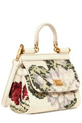 Dolce & Gabbana Mini Miss Sicily Stitched Shoulder Bag in Beige (ivory) - Lyst