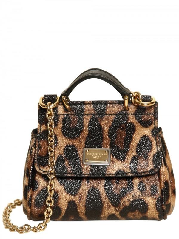 c14873be38c4 Lyst - Dolce   Gabbana Mini Miss Sicily Leopard Print Pvc Bag