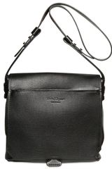 Ferragamo Texturized Leather Messenger Bag - Lyst