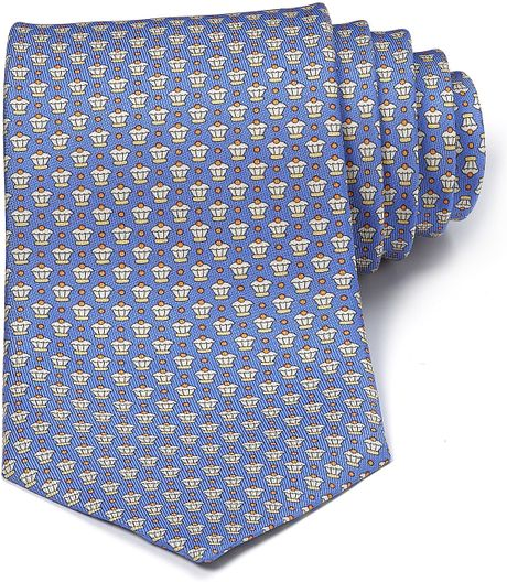 Ferragamo Nocciola Cupcake Tie in Yellow for Men