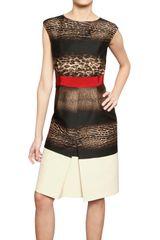 Giambattista Valli Printed Wool Silk Crepe Dress - Lyst