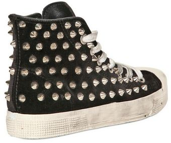 Gienchi 20mm Velvet Studded Sneakers - Lyst